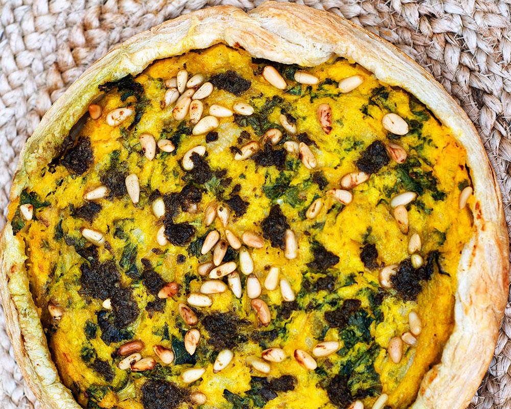 Recept butternut- och grönkålspaj