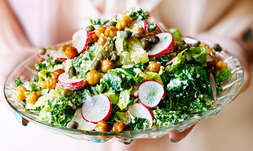 Recept vegetarisk caesarsallad