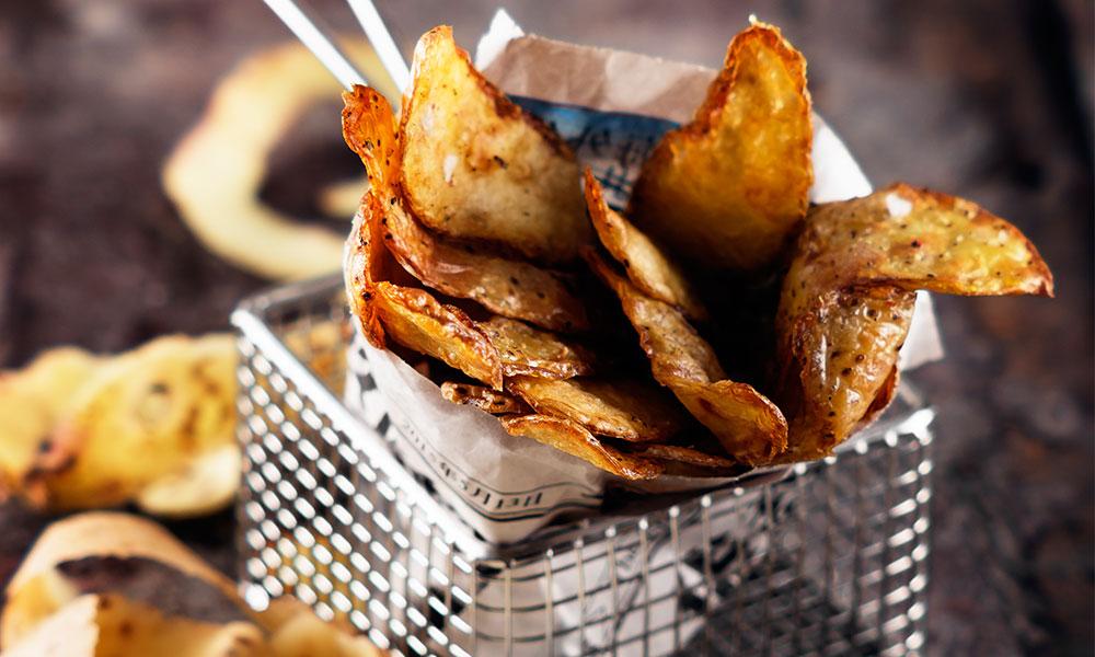 friterade potatisskal