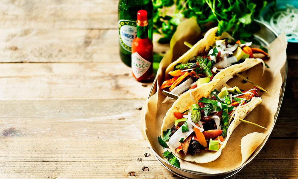 Recept tacos med svarta bönor
